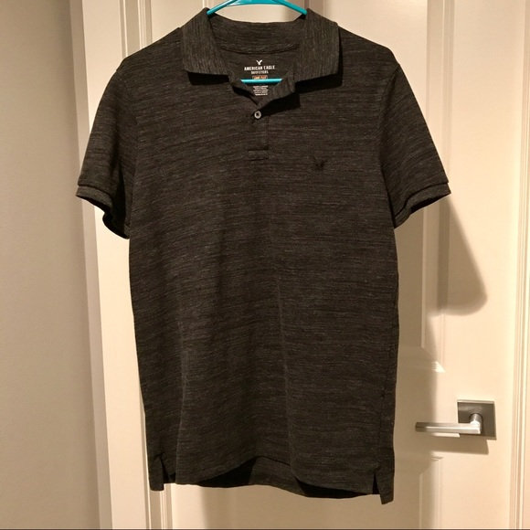 dcd17ffa American Eagle Outfitters Other - 🆕AE Core Flex Classic Fit Polo in Dark  Gray